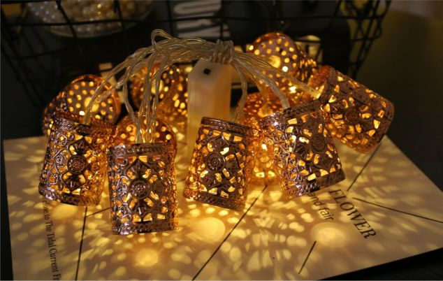 Golden Carved  Ramadan Led String lights