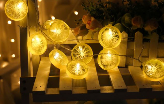 Lemon Led string lights